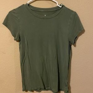 Army green American eagle tee